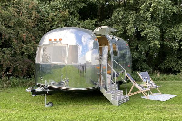 Exterior image of a YHA Airstream