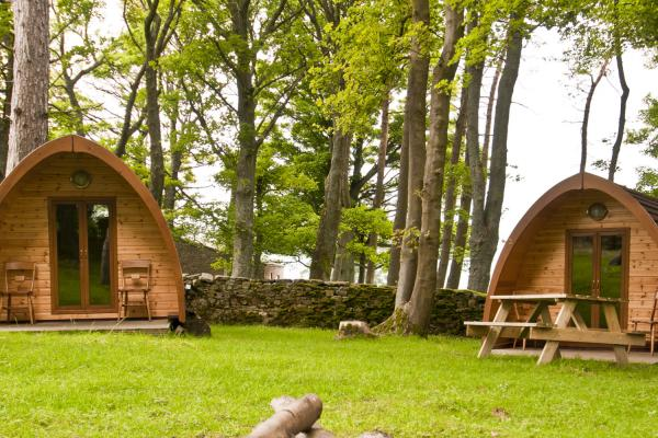 Camping pods at YHA