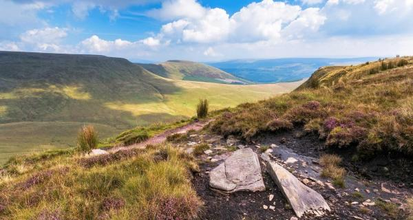 View over the Brecon Beacons National Park