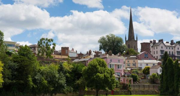 View of St Mary's Church in Ross-on-Wye. Herefordshire