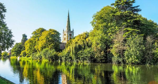 View of Holy Trinity Church from the River Avon