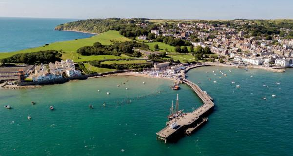 Aerial view of Swanage