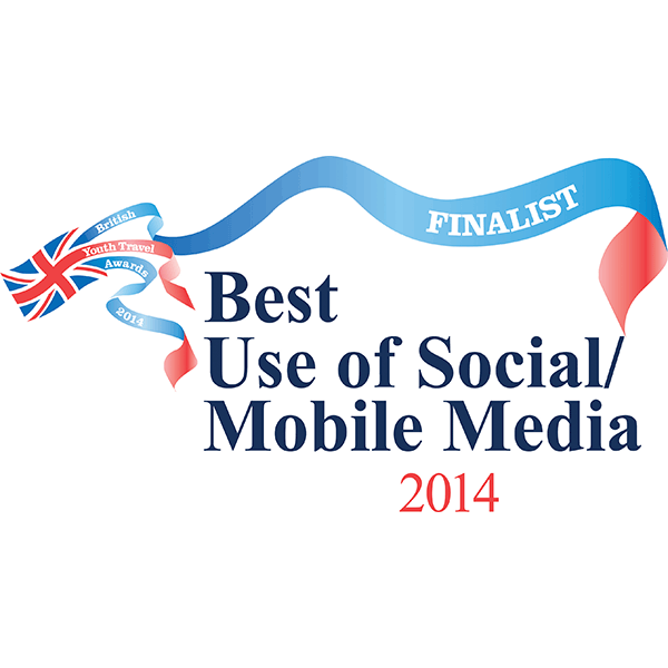 British Youth Travel Awards - Best use of Social/Mobile Media 2014