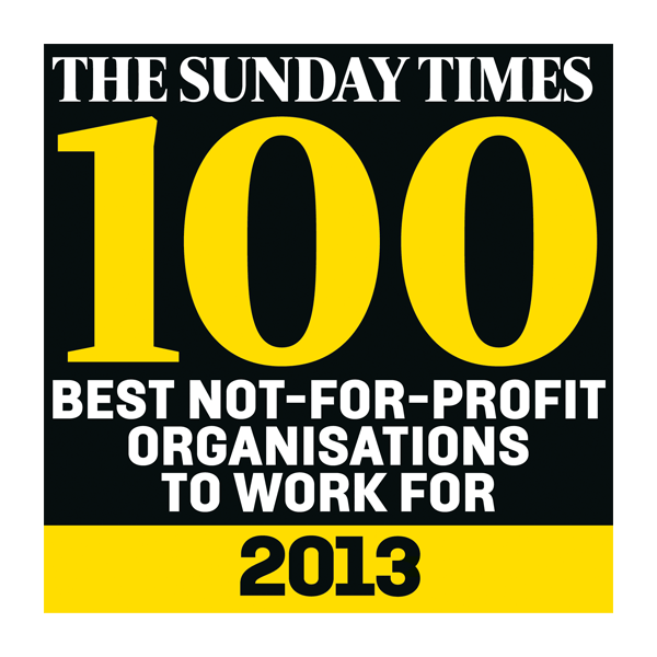 Times Top 100 - Best Not-for-profit 2013 award