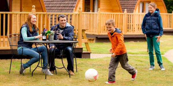 Family with young males staying at YHA