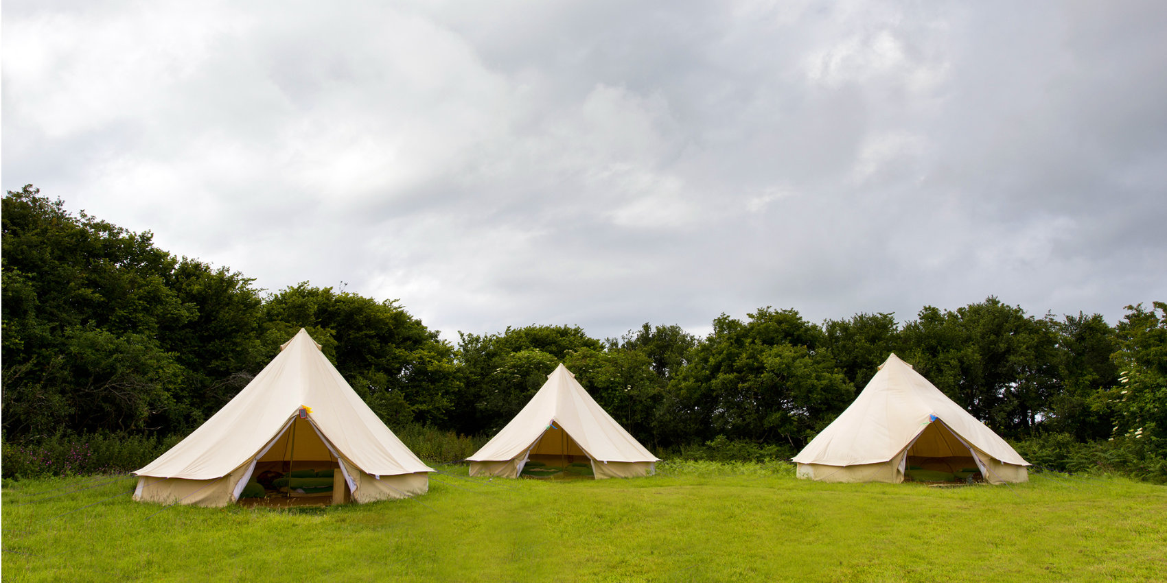 Bell tents at YHA