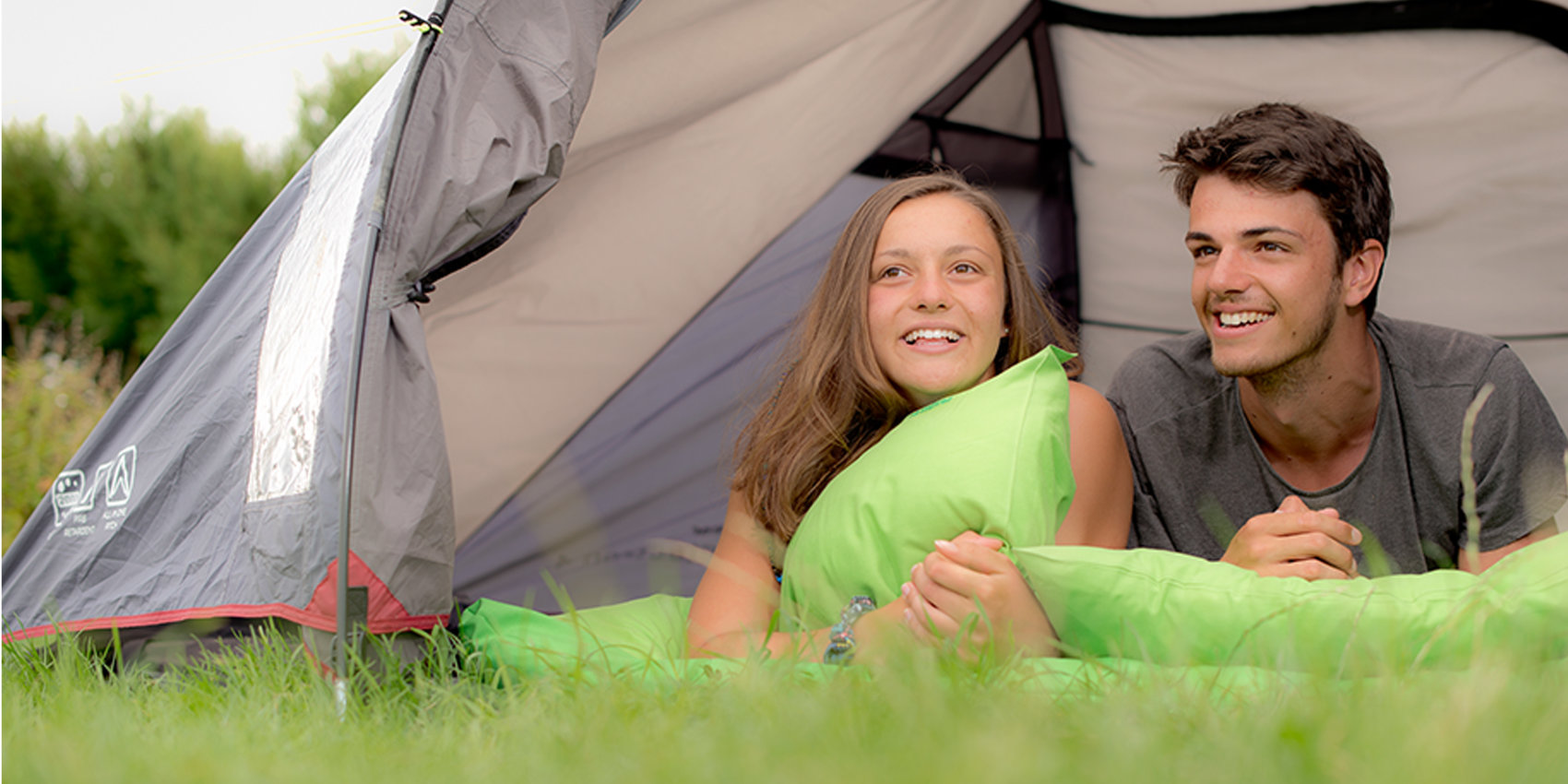 Couple enjoying camping at YHA