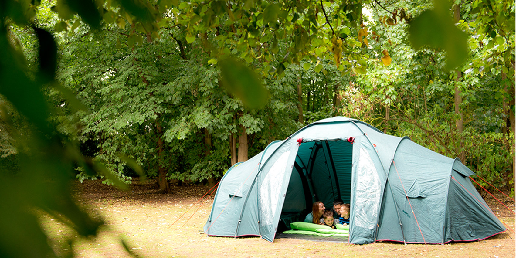Camping in the woodland at YHA