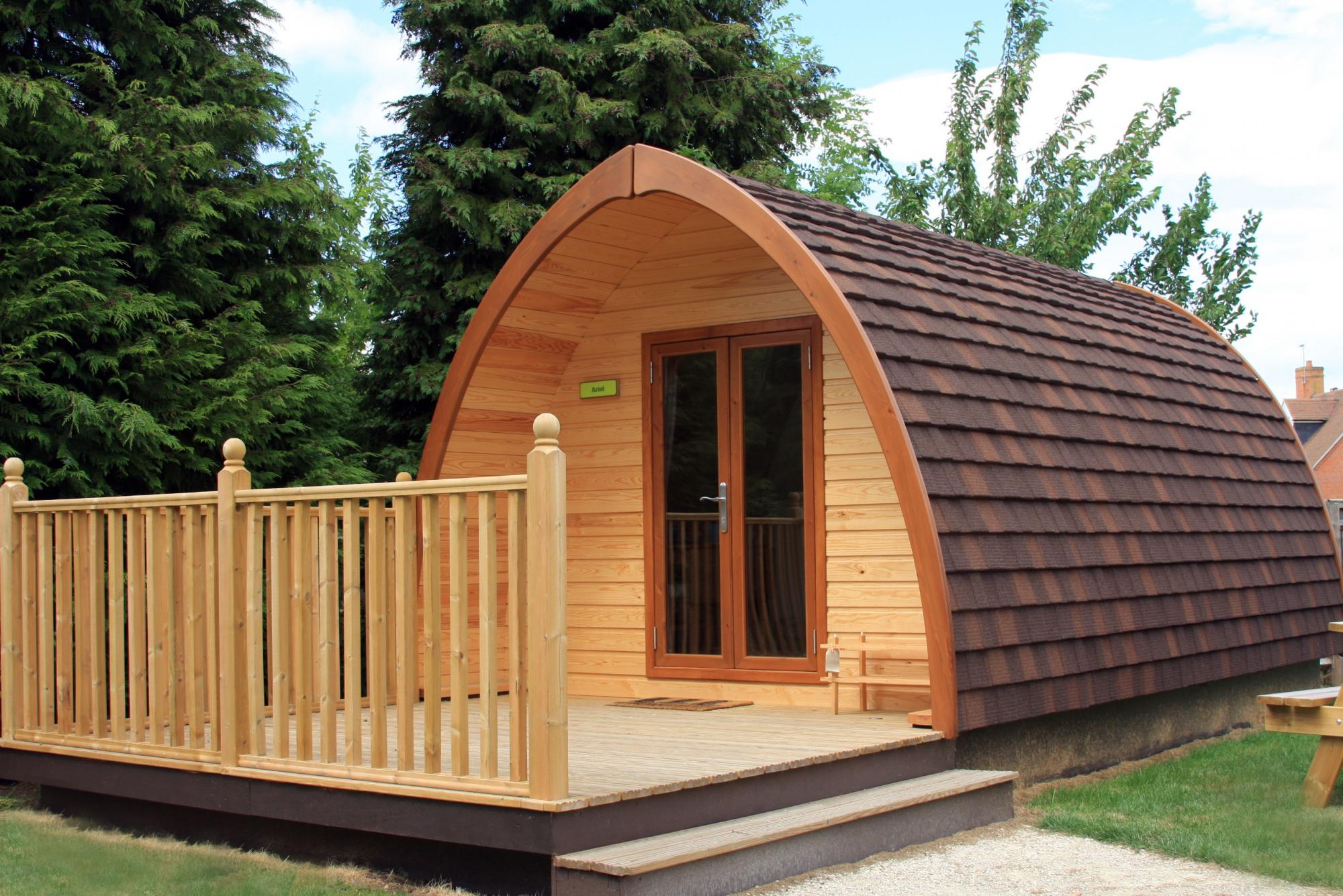 Deluxe camping pod at YHA