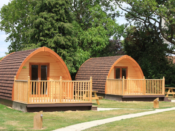 Deluxe camping pods at YHA