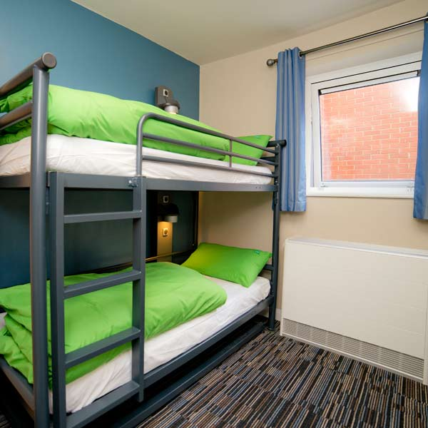 Bunk bed at YHA Cambridge