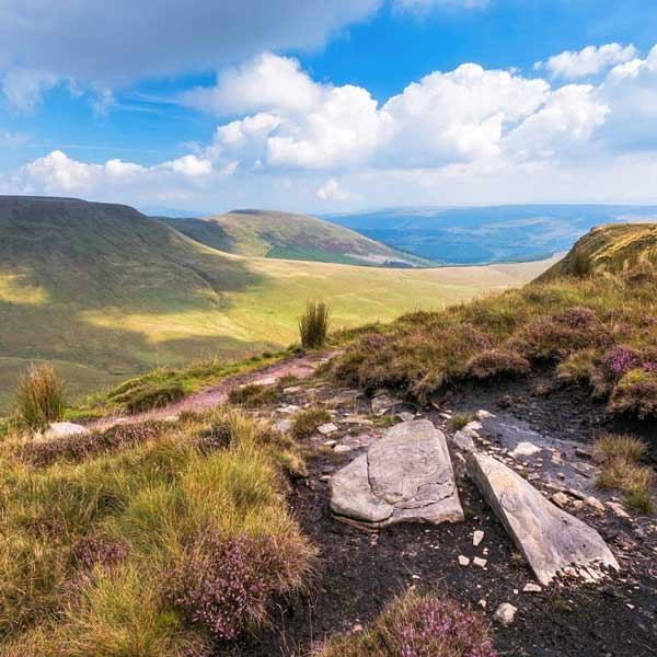 View across the Brecon Beacons National Park