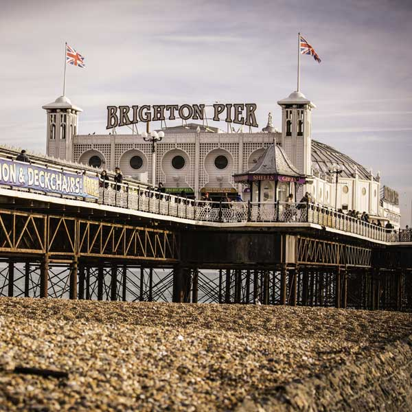 Brighton Pier from the beach