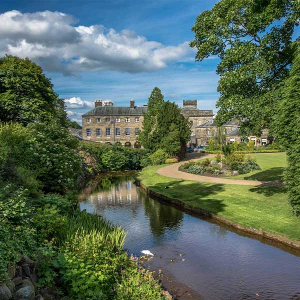 View of Buxton Garden Park over the River Wye