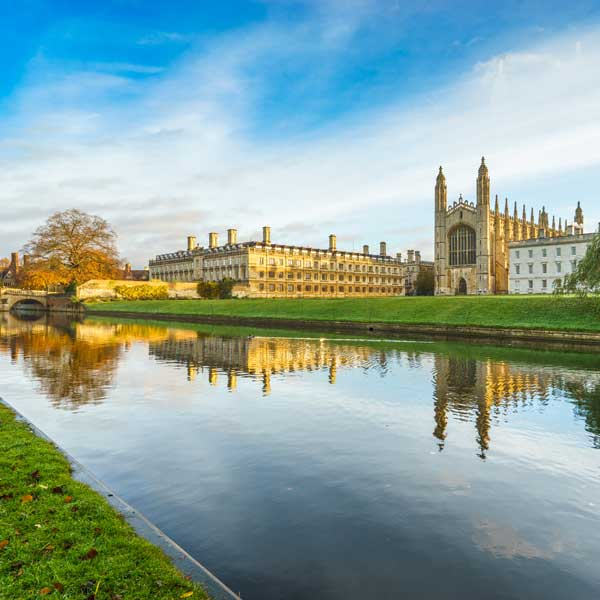 View of Cambridge University from the River Cam