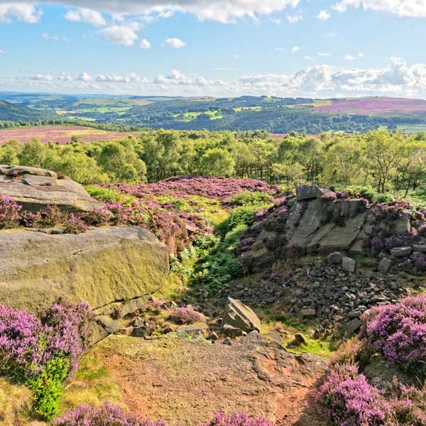 View of the Derbyshire Peak District
