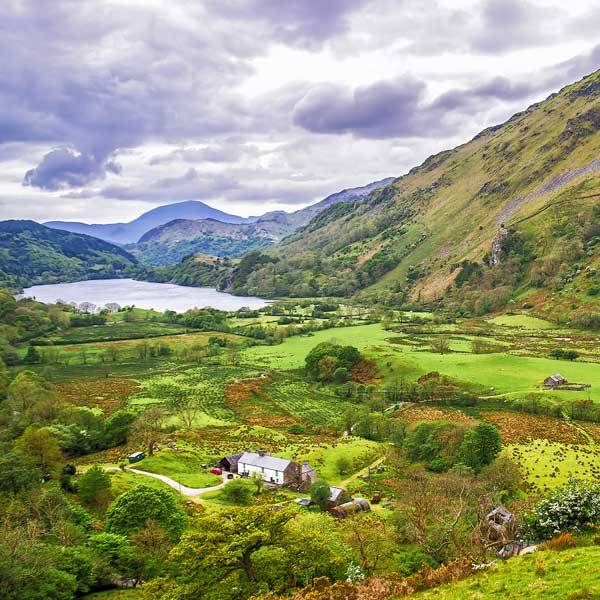 View of the Snowdonia National Park