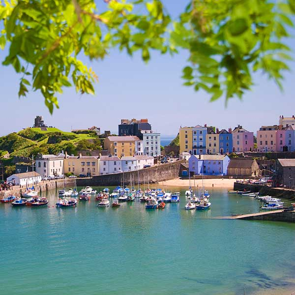 View of Tenby, South Wales