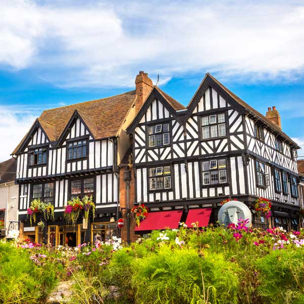 View of Shakespeare's birth place in Stratford-upon-Avon