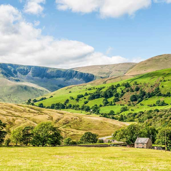 View of the scenery of the Yorkshire Dales